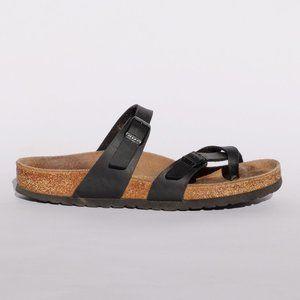 Birkenstock black birko-flor suede Mayari sandals